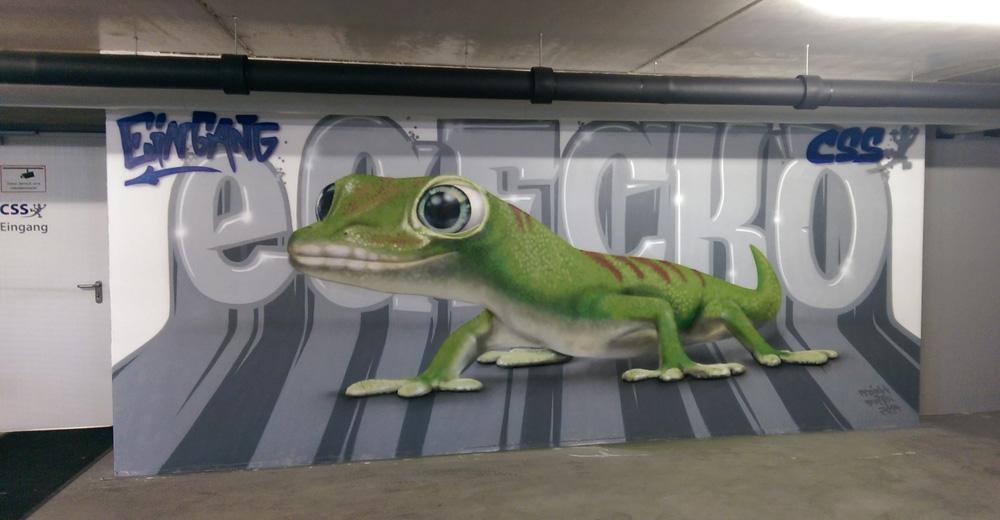 CSS, Graffiti, urban, Sprühdose, Wandgestaltung, Software, Gecko, grafisch, Spray, Graffity, Tiefgarage, Künzell, Fulda, eGecko