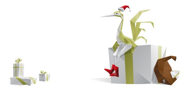 concedro, kranich, frostkeimer, frankfurt, relieflack, weihnachtskarte, glückwunsch