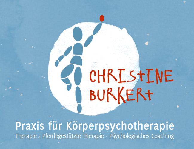 Christine Burkert, sannerz, sinntal, psychotherapie, körpertherapie, pferdethearpie, kinder, jugendliche, therapie, corporate design, logo, visitenkarte, briefpapier