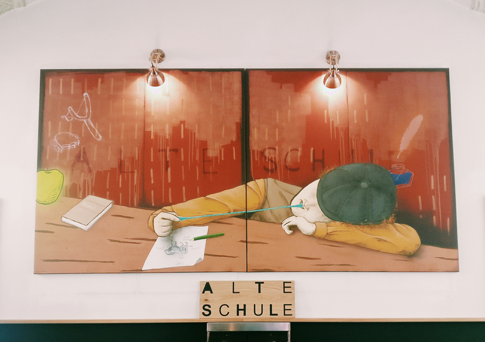 Alte Schule Fulda Kunstwerk Gemälde Bild Illustration Ingmar Süß