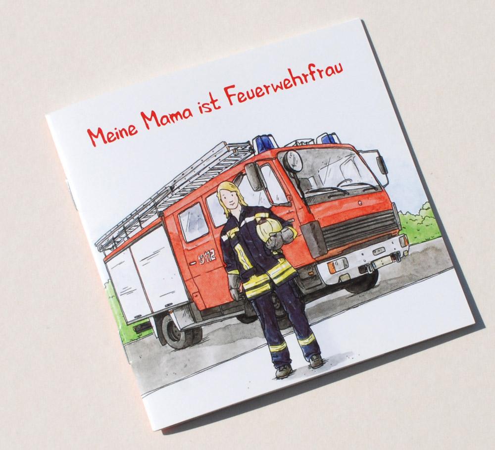 kinderbuch illustration pixie buch feuerwehr mama